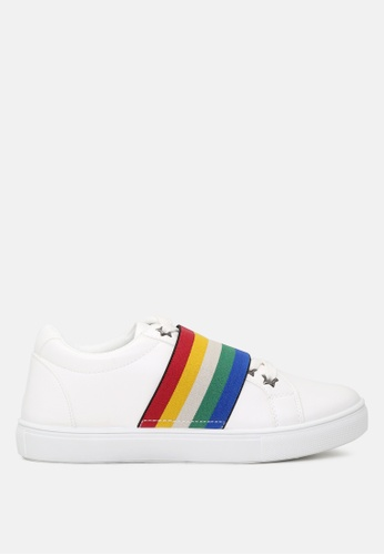 London Rag multi Slip on Sneakers with Rainbow elastic F314ESH0DE716CGS_1