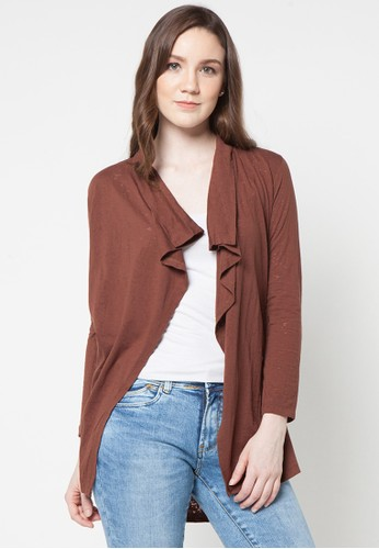 LOIS JEANS brown Long T-Shirt Cardigan LO391AA33ITYID_1