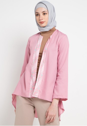 Aira Muslim Butik pink and multi Elizaa Outer 38763AAD2BD267GS_1