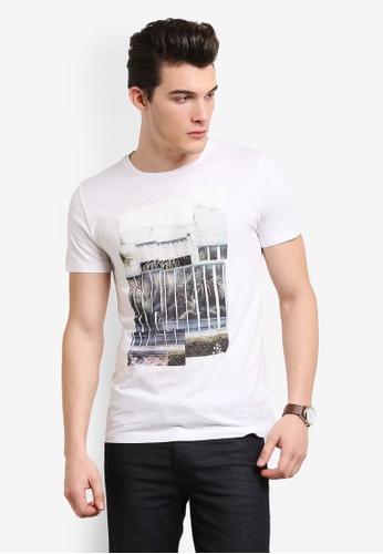 Boss Orange white Tonight T-Shirt BO434AA0RIDWMY_1