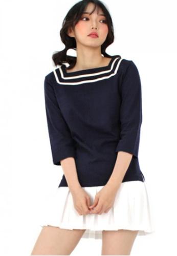 A X A multi Sailor Square T Shirt AX230AA94CCRSG_1