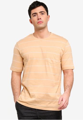 Factorie 多色 條紋口袋T恤 6E7B2AACB2D1E5GS_1