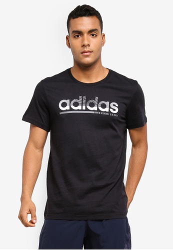 adidas black adidas fading linear tee AD372AA0SUMBMY_1