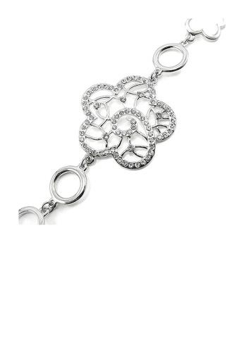 Glamorousky silver Elegant Bracelet with Silver Austrian Element Crystal F8E53ACF252A26GS_1