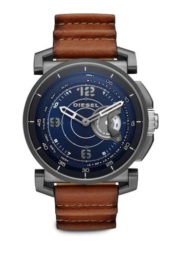 Diesel brown Diesel Dark Brown Leather Hybrid Smartwatch DZT1003 DI095AC26TKBMY_1