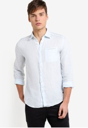 ESPRIT blue Woven Long Sleeve Shirt ES374AA55LIEMY_1
