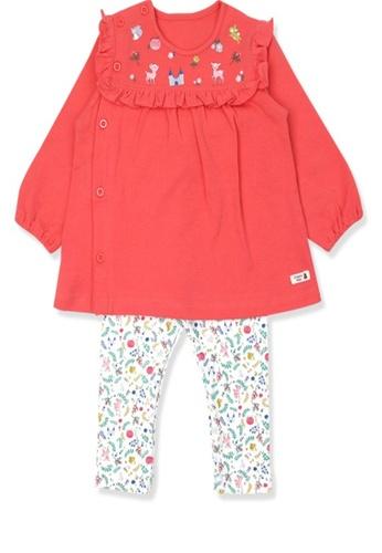 Organic mom red GirlsAutumn-Winte Fawn BamBi Home-wear Pajamas CAD67KA50684ACGS_1