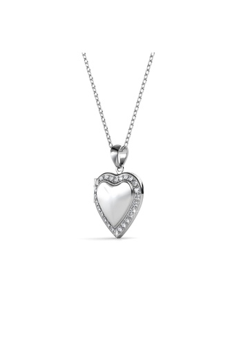 Her Jewellery silver Love Locket Pendant - Licensed Genuine Crystals from Swarovski® HE581AC0RDHAMY_1