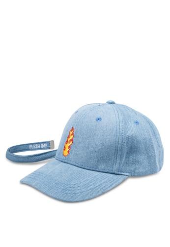 Flesh IMP blue Flamable Thrasher Strapback Cap FL064AC0RNAUMY_1