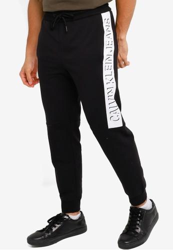 CALVIN KLEIN black Logo Joggers - CK Jeans 4F6E5AAA2A9FD8GS_1
