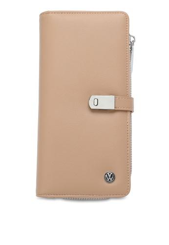 Volkswagen beige RFID Long Purse 72263ACC4ACF8AGS_1