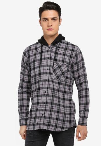 Factorie multi Longsleeve Hooded Shirts 63539AA983B382GS_1