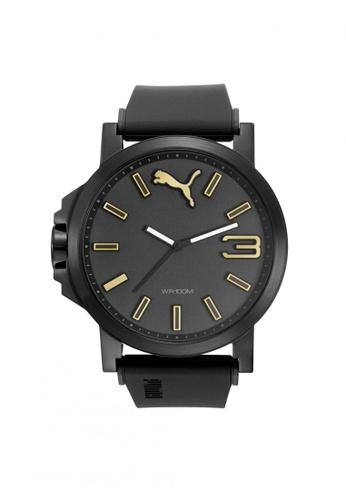 Puma black Puma Ultrasize - Black Rubber Strap (PU103461020) PU440AC22QGVSG_1