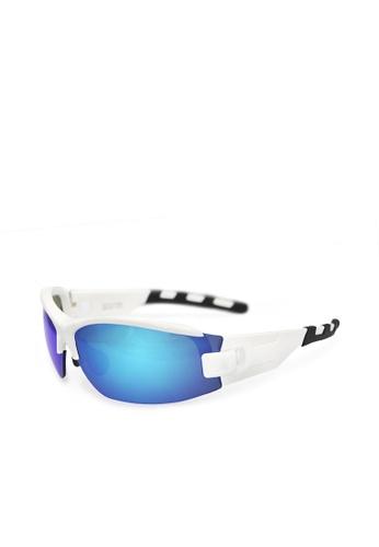 ASLLY white and blue Passion sport│Blue lens  - White  sport sunglasses 756CBGLF104241GS_1