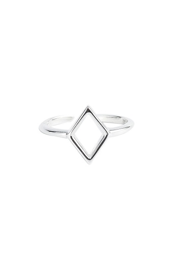 A-Excellence silver Premium S925 Sliver Geometric Ring 9413DAC3B3F7ECGS_1