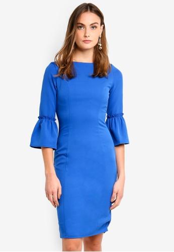 Paper Dolls blue Cobalt Fluted Dress 882D7AA4222266GS_1