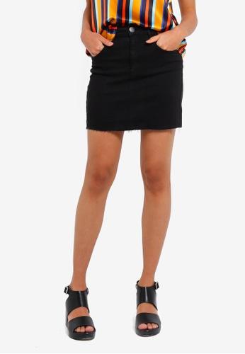 Cotton On black Classic Stretch Denim Mini Skirt E7014AA2E30E70GS_1