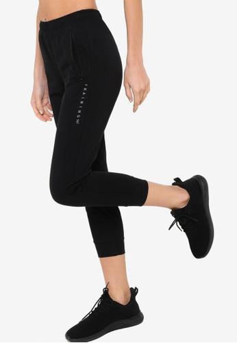 361° black Cross Training Knit Cropped Pants 0E16DAA3B10BD2GS_1