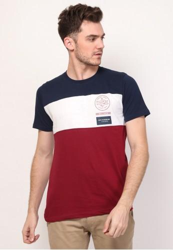17seven Original navy Tshirt 0121-FLAGCIRCLE 84D2CAAB321FC3GS_1