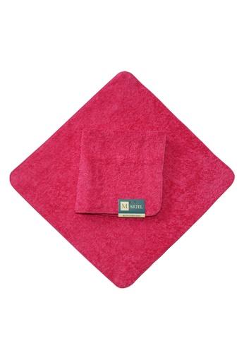 Martel pink Martel Basic Face Towel 6FF23HLD5A3F30GS_1