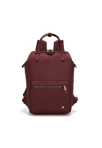 Pacsafe red Pacsafe Citysafe CX Anti-Theft Mini Backpack (Merlot) 82B8DAC7E7CC6EGS_1
