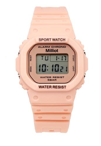 Milliot & Co. 粉紅色 Jaycee 手錶 69606AC40503F4GS_1