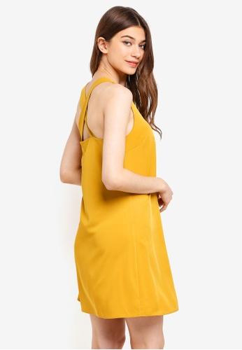 Something Borrowed yellow Cross Back Swing Dress 70257AA984E8E1GS_1