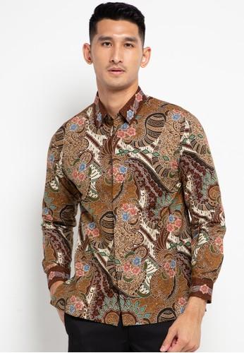 ASANA brown Keay Long Sleeves Premium Cotton DB12DAABDF8A67GS_1