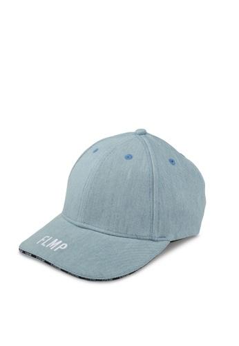 Flesh IMP blue Emblem Paneled Strapback Cap FL064AC0SJO7MY_1