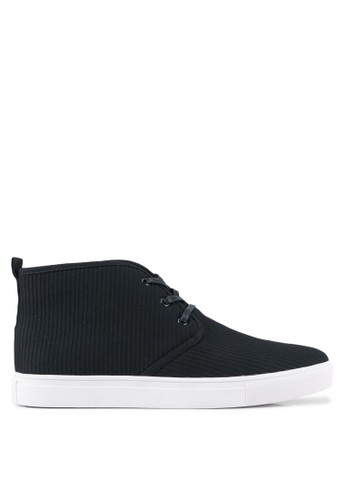 JAXON black Fabric High Top Sneakers FD518SHB82EFF4GS_1