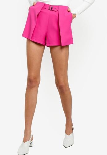 ZALORA 紫色 質感短褲 94456AABA487FFGS_1