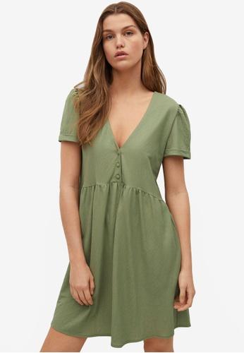 Mango beige Short Flowy Dress 7DE76AA6A47882GS_1
