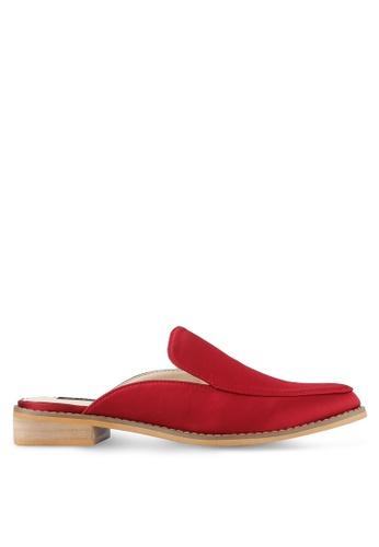 ZALORA red Satin Slide Loafers 50CE4SH449F642GS_1