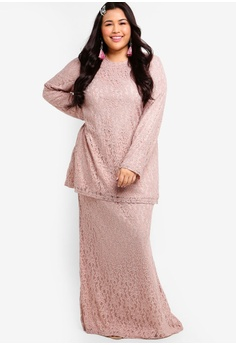 5c47a1999c7 33% OFF Lubna Straight Sleeves Lace Set RM 289.00 NOW RM 194.90 Sizes XXL  XXXL XXXXL XXXXXL