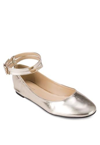 繞zalora 男鞋 評價踝漆面平底鞋, 女鞋, 鞋