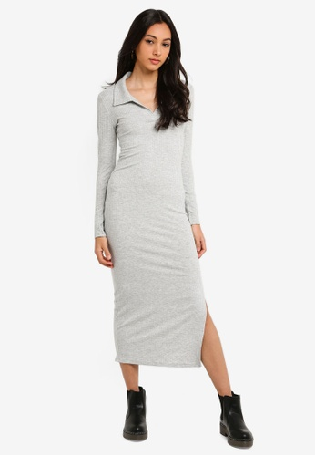 939aee32f595 Buy TOPSHOP Rib Midi Shirt Dress Online on ZALORA Singapore