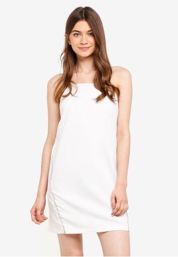 Something Borrowed white Zip Trim Cut-In Shift Dress AAB3BAADE4729CGS_1