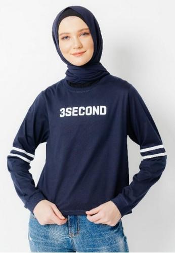 3SECOND blue Women Tshirt 211220 7390BAA58A9372GS_1