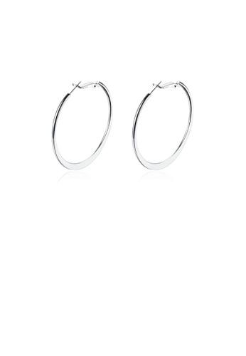Glamorousky silver Fashion Simple Round Earrings C0F94AC93C00E9GS_1