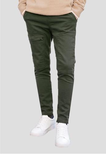 拉鏈細節鬆緊腰長褲  , 服飾, 直esprit台灣outlet筒褲