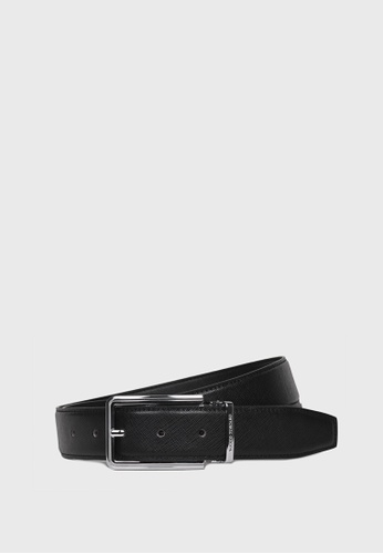 Tocco Toscano black Leather Belt w Prong Buckle (Black) - 30mm width TO281AC30ALXSG_1