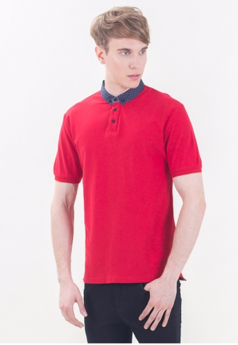 Drum navy Slim Fit Polo Shirt-RED DR425AA81RIWMY_1