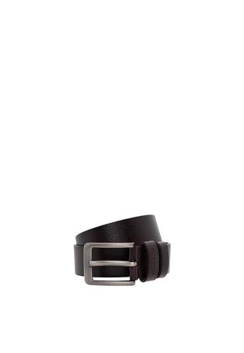 SEMBONIA brown SEMBONIA Men Genuine Leather Belt (Brown) C89F1AC81159E2GS_1