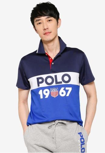 polo ralph lauren blue Retro Polo Shirt 19F8BAAE18220AGS_1