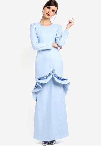 Rico Rinaldi for Zalora blue Venicera Dress RI533AA63DWQMY_1