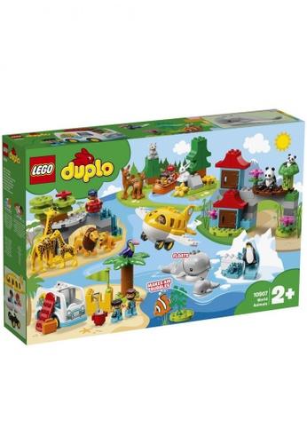 LEGO multi LEGO DUPLO Town 10907 World Animals (121 Pieces) B8685TH3780B97GS_1
