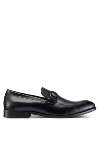 Carlton London black Slip On Loafers 009AESH44B708EGS_1