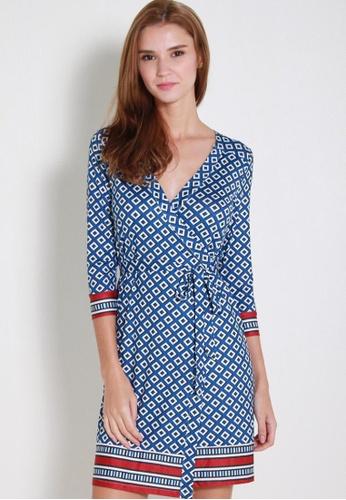 Leline Style blue Kaeli Prints Wrap Dress LE802AA46SPLSG_1