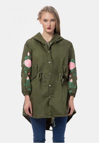 MKY Clothing green MKY Rose Printed Parka Jacket E3C01AAA4BA069GS_1