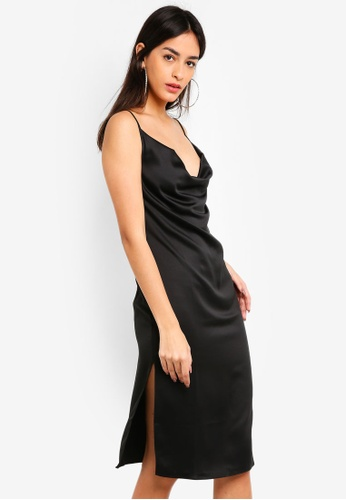 67771cd9f3f4 Shop MISSGUIDED Strappy Cowl Midi Dress Online on ZALORA Philippines